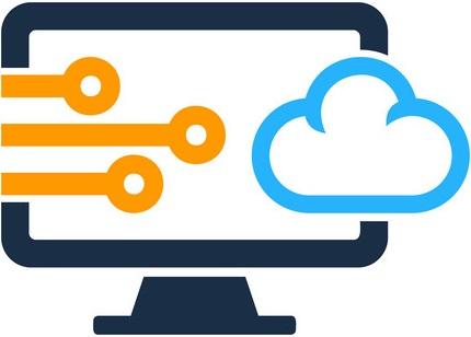 Digital Computer Logo Icon Design